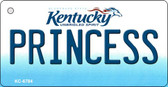 Princess Kentucky State License Plate Novelty Key Chain KC-6784
