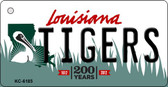 Tigers Louisiana State License Plate Novelty Key Chain KC-6185