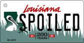 Spoiled Louisiana State License Plate Novelty Key Chain KC-6211