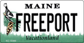 Freeport Maine State License Plate Key Chain KC-10393