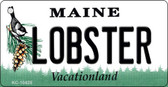 Lobster Maine State License Plate Key Chain  KC-10425