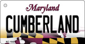 Cumberland Maryland State License Plate Key Chain KC-10470