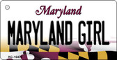 Maryland Girl Maryland State License Plate Key Chain KC-10478