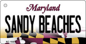 Sandy Beaches Maryland State License Plate Key Chain KC-10479
