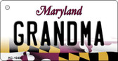 Grandma Maryland State License Plate Key Chain KC-10484