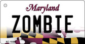 Zombie Maryland State License Plate Key Chain KC-10488