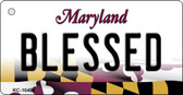 Blessed Maryland State License Plate Key Chain KC-10498