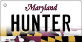 Hunter Maryland State License Plate Key Chain KC-10500