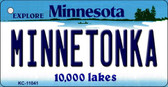Minnetonka Minnesota State License Plate Novelty Key Chain KC-11041