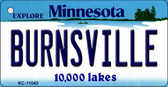 Burnsville Minnesota State License Plate Novelty Key Chain KC-11043
