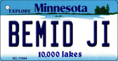 Bemid Ji Minnesota State License Plate Novelty Key Chain KC-11044