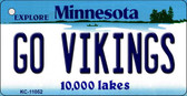 Go Vikings Minnesota State License Plate Novelty Key Chain KC-11052