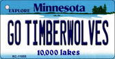 Go Timberwolves Minnesota State License Plate Novelty Key Chain KC-11055