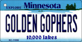 Golden Gophers Minnesota State License Plate Novelty Key Chain KC-11056