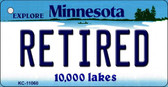 Retired Minnesota State License Plate Novelty Key Chain KC-11060