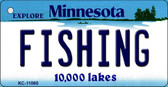 Fishing Minnesota State License Plate Novelty Key Chain KC-11065