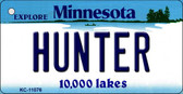 Hunter Minnesota State License Plate Novelty Key Chain KC-11076