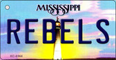 Rebels Mississippi State License Plate Key Chain KC-6564