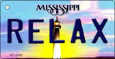 Relax Mississippi State License Plate Key Chain KC-6565