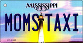 Moms Taxi Mississippi State License Plate Key Chain KC-6580