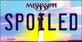 Spoiled Mississippi State License Plate Key Chain KC-6591