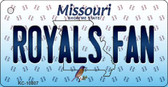 Royals Fan Missouri State License Plate Key Chain KC-10807