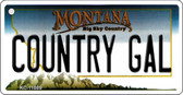 Country Gal Montana State License Plate Novelty Key Chain KC-11089