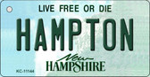 Hampton New Hampshire State License Plate Key Chain KC-11144