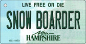 Snow Boarder New Hampshire State License Plate Key Chain KC-11173