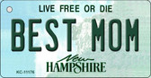 Best Mom New Hampshire State License Plate Key Chain KC-11176