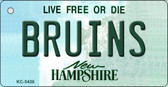 Bruins New Hampshire State License Plate Key Chain KC-5436