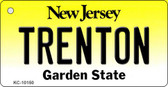 Trenton New Jersey State License Plate Key Chain KC-10150