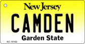 Camden New Jersey State License Plate Key Chain KC-10152