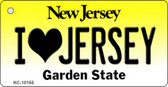 I Love Jersey New Jersey State License Plate Key Chain KC-10155