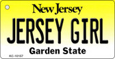 Jersey Girl New Jersey State License Plate Key Chain KC-10157