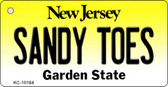 Sandy Toes New Jersey State License Plate Key Chain KC-10184