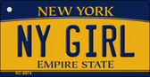 NY Girl New York State License Plate Key Chain KC-8974
