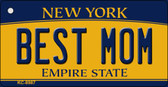 Best Mom New York State License Plate Key Chain KC-8987