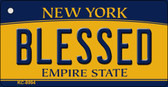 Blessed New York State License Plate Key Chain KC-8994