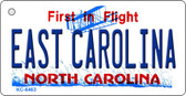 East Carolina State License Plate Key Chain KC-6463