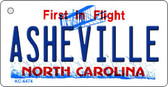 Asheville North Carolina State License Plate Key Chain KC-6474