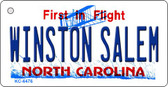 Winston Salem North Carolina State License Plate Key Chain KC-6476