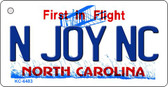 N Joy SC North Carolina State License Plate Key Chain KC-6483