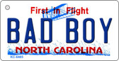 Bad Boy North Carolina State License Plate Key Chain KC-6485