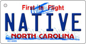 Native North Carolina State License Plate Key Chain KC-6486