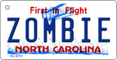Zombie North Carolina State License Plate Key Chain KC-6751
