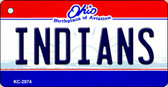 Indians Ohio State License Plate Key Chain KC-2074