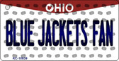 Blue Jackets Fan Ohio State License Plate Key Chain KC-10839