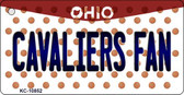 Cavaliers Fan Ohio State License Plate Key Chain KC-10852