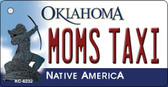 Moms Taxi Oklahoma State License Plate Novelty Key Chain KC-6232